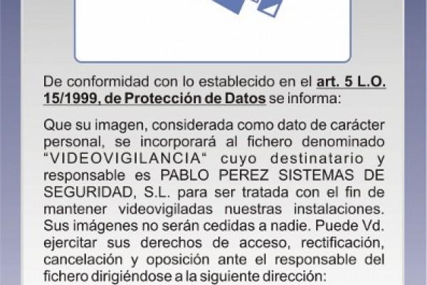 REGISTRO SISTEMAS DE VIDEOVIGILANCIA
